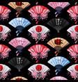 hand fan pattern vector image