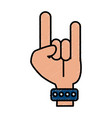 hand rock and roll symbol isolated vector image vector image