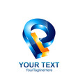 initial letter pl or lp logo template colored vector image vector image