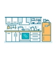 Kitchen linear flat vector image vector image