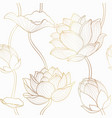 luxury lotus seamless wallpaper design vector image vector image