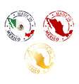 made in Mexico stamp vector image