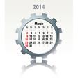 March 2014 - calendar vector image vector image