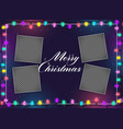 merry christmas lights decoration with image space vector image