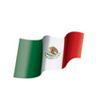 mexican flag on a white vector image vector image