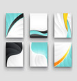 minimal curve wave set background with shadow and vector image