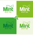 mint logo vector image vector image