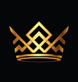 modern crown logo royal king queen abstract logo vector image vector image