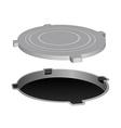 Open metal manhole vector image