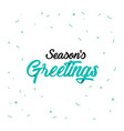 origami lettering of season s greetings vector image vector image