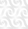 Paper white striped spiral waves big vector image vector image