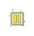 pause icon design vector image