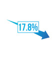 percent down arrow icon percentage arrow vector image