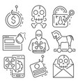 phishing icon set outline style vector image vector image