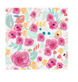 pink and blue pastel colorful flower seamless vector image