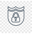 protection concept linear icon isolated on vector image
