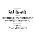 red tomato handdrawn ink brush font vector image vector image