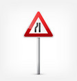 road red signs collection isolated on white vector image vector image