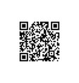 sample qr code icon isolated on white background vector image vector image