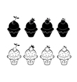 Set of ice cream icons vector image