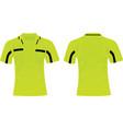 soccer referee shirt vector image vector image