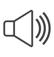 sound line icon web and mobile voice sign vector image