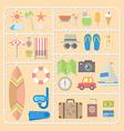 summer tools model kits vector image vector image