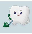 Tooth with phone vector image vector image