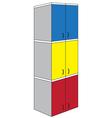 Tri color triple wardrobe vector image vector image