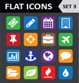 Universal Colorful Flat Icons Set 3 vector image vector image