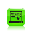 update pc icon vector image vector image