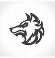 wolf face logo emblem template mascot symbol vector image