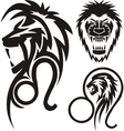 Zodiac Signs - lion Vinyl-ready set vector image vector image
