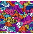 Wave colored seamless texture Hand-drawn pattern vector image
