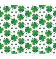 Bright seamless texture of leaves clover vector image
