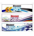 Abstract discount banners vector image vector image