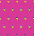 abstract strawberry repeat pattern pink and yellow vector image vector image