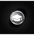 Academic cap icon Study hat symbol vector image