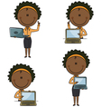 African-American business ladies with laptop vector image