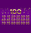 anniversary numbers golden celebration number vector image