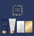 aqua care logo spa emblem mineral natural cosmetic vector image vector image