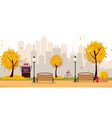 aumumn leaf fall park public park in city vector image