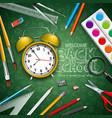 back to school design with yellow alarm clock