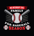 baseball saying and quote vector image