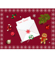 beautiful christmas background with open envelope vector image vector image