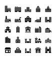 building icons set in flat style vector image vector image