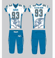 bulldogs symbol white and blue american football vector image