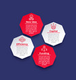 business and finance infographic design with icons vector image vector image