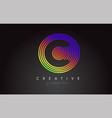 c letter logo design with colorful rainbow vector image