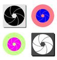 camera shutter flat icon vector image vector image